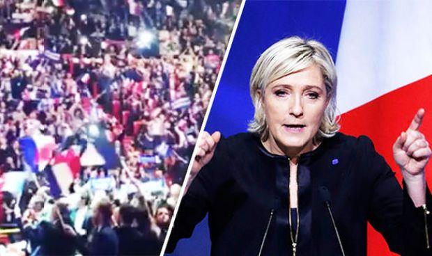 National Front leader Le Pen in Lyon