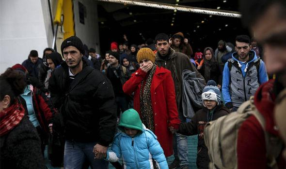 Migrantes en Lesbos