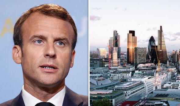 Macron and London City