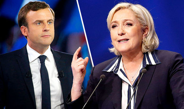 Marine Le Pen and Emmanuel Macron