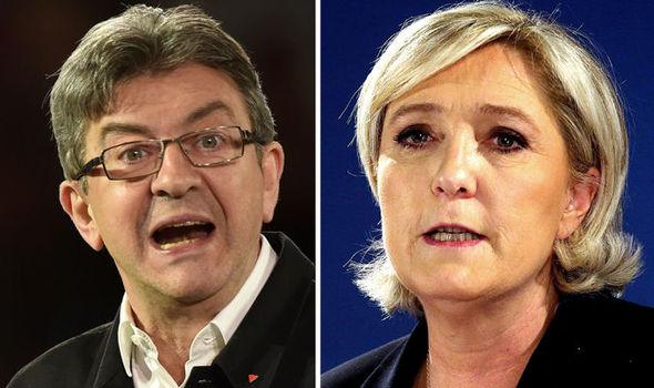 Jean-Luc Melenchon & Marine Le Pen