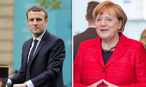 Image result for Merkel, Macron meet to discuss reforms for Euro Zone