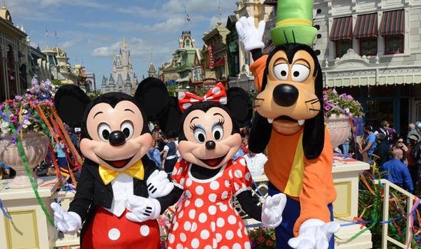 Mickey Mouse, Minnie and Pluto at Disney World