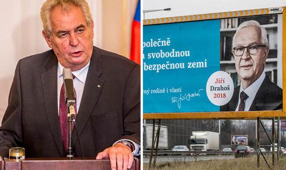Miloš Zeman is tipped to win the Czech election