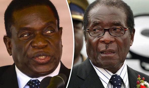 Mnangagwa and Mugabe