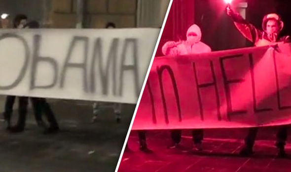 Obama burn in hell protesters