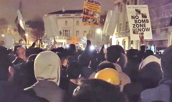 Muslim protest in London