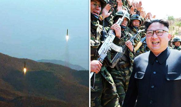 Kim Jong-Un at military event