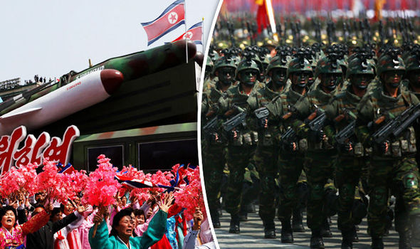 Military parade in North Korea as missiles on show