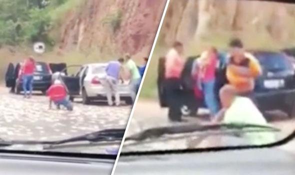 Footage of crash aftermath