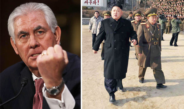 Image result for rex tillerson and north korea