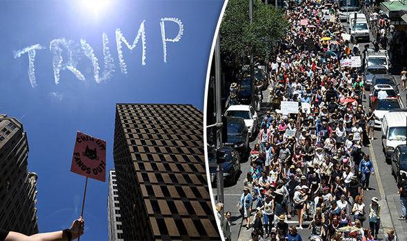 Sydney Trump protest