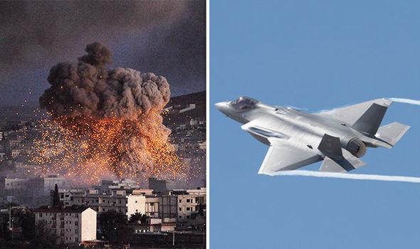 Syria warplanes USA airstrike fighter jets Assad Trump