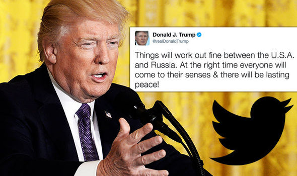 Donald Trump takes an optimistic tone in tweets