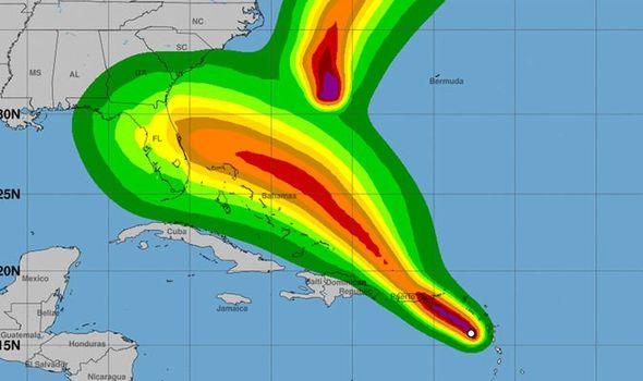 storm dorian and tropical