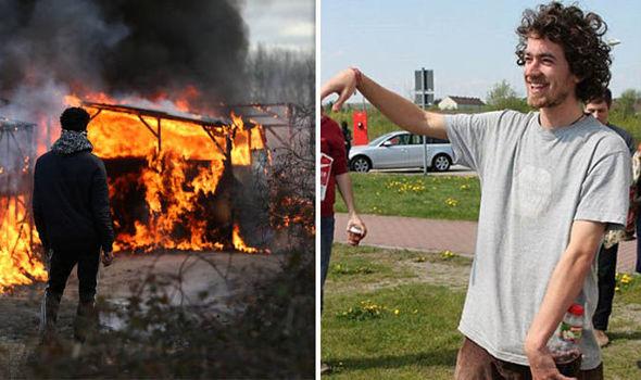 Fire in Calais Jungle camp - James Ellison
