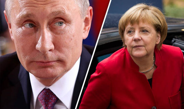 Vladimir Putin Merkel