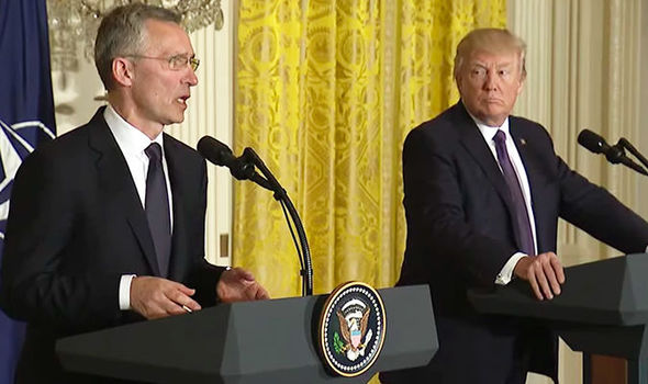 President Trump and Jens Stoltenberg