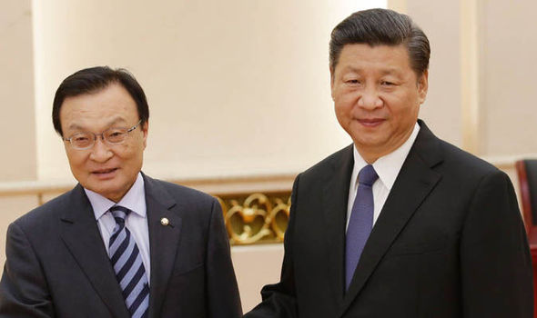 Chinese leader Xi Jinping with Lee Hae-chan