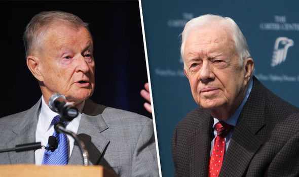 Zbigniew Brzezinski and Jimmy Carter