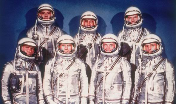 Image result for Mercury astronaut