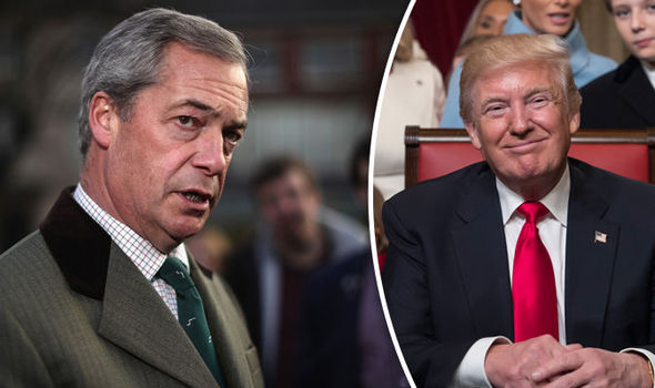 donald trump nigel farage president adviser
