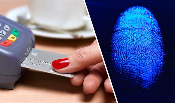 fingerprint card money shopping security