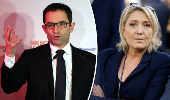 Benoit Hamon hopes to take on Marine Le Pen for the presidency