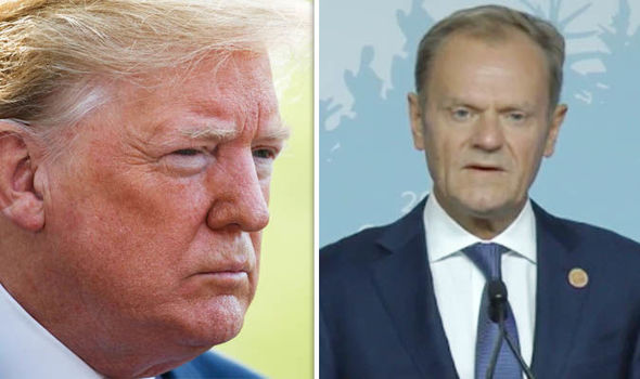 G7 Summit: Donald Trump and Donald Tusk