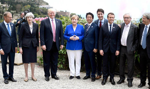 Image result for photos of recent g7 conference