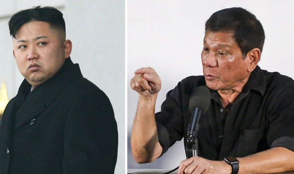 kim jong un north korea phillipine duterte