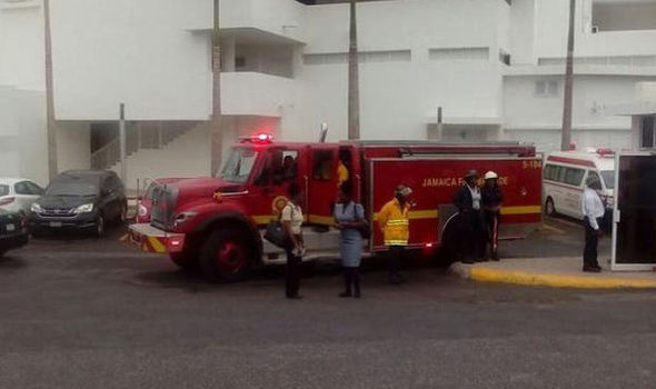 Fire engine at hotel