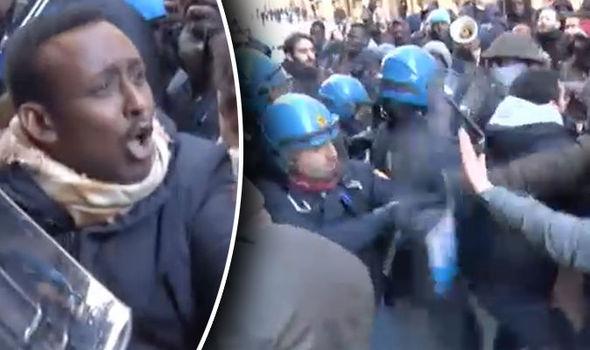 Somali migrant protest