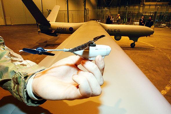 A model of the RAF reaper drone which made ISIS jihadi's start shooting each other