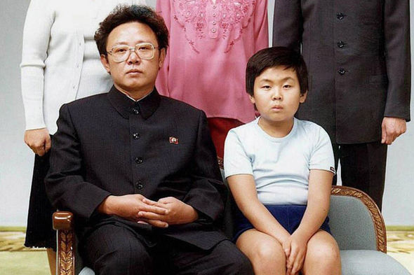 Kim Jong-Il with his son Kim Jong-Nam