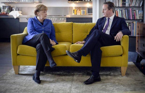Merkel and David Cameron