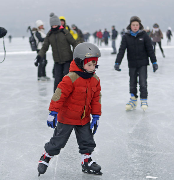 Around 8,000 people took to the ice to have some fun