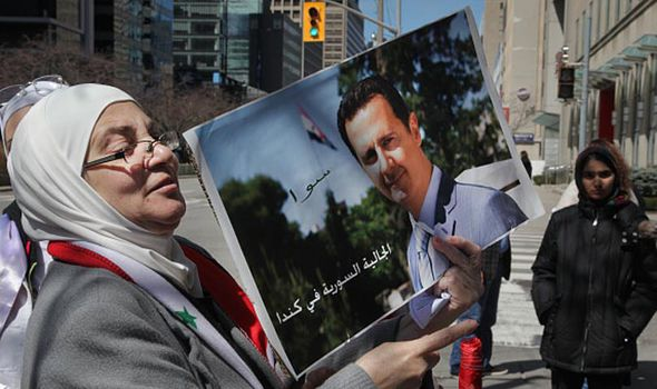 Pro Assad supporter