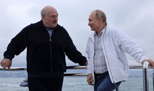 Belarus: Alexsander Lukashenko and Putin pictured on his yacht in the Black Sea