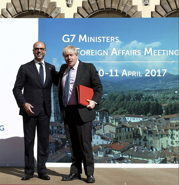 Boris Johnson met with G7 foreign ministers