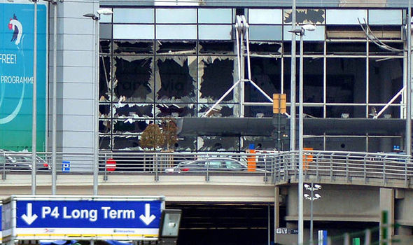 Brussels airport after blast