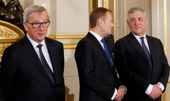 EU leaders including Juncker and Tusk