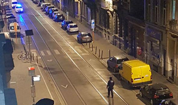 Tram track in Brussels