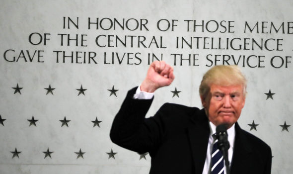 Donald Trump at CIA HQ