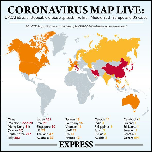 Coronavirus map updates: Outbreak spreads like fire - Middle East ...