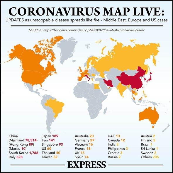 Coronavirus map LIVE: Virus hits Northern Ireland -patient ...