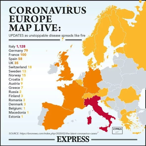 Coronavirus LIVE: UK outbreak as 12 more test positive in England ...
