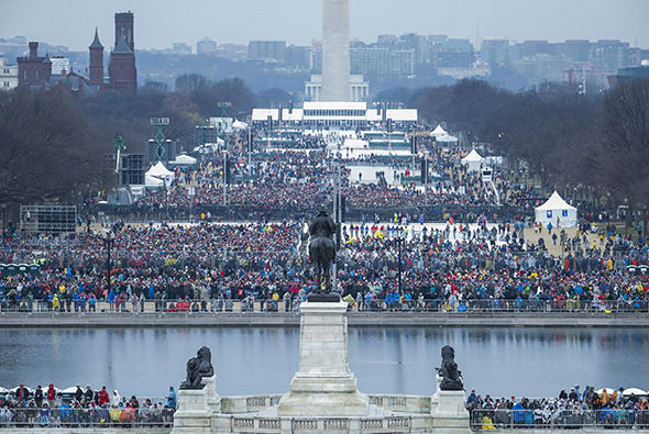 Crowds in Washington for Trump's inauguration