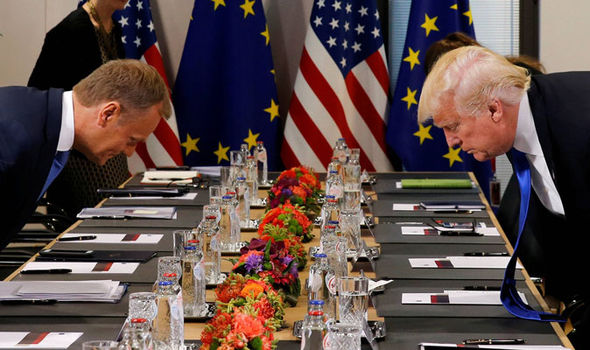 Donald Trump and Donald Tusk sat down opposite each other