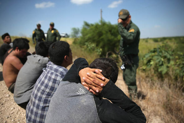 Immigrants on the US-Mexico border